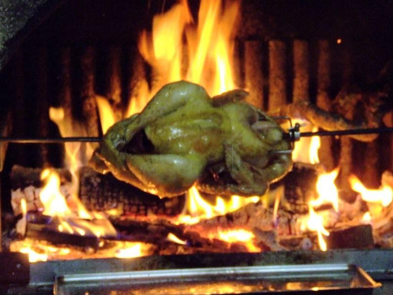 Poulet aux c pes les champignons - Cuisiner au feu de bois ...
